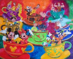 Spinning Tea Cups Party by billywallwork525