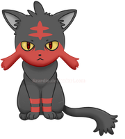 Litten by Lizardio
