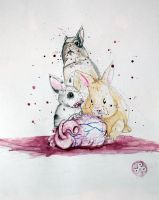 Blood and Bunnies by dippydude