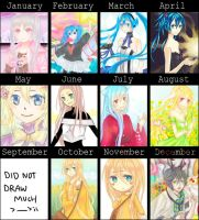 2012 Art Summary by bunnychii