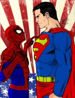 Spiderman vs Superman by jmascia