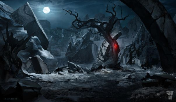 Dark Fantasy environment by Pumax001