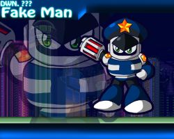 Fake Man Powered Up Wallpaper by Galaxyman-da-Awesome