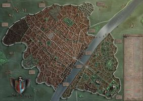 Wilthorm - a Fantasy City by Khorghil