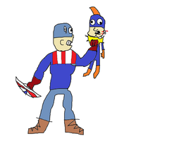 Captain America saves the world from bad hero by mippytrippy