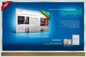 3D Web page Display by artbees
