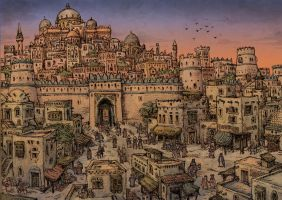 Medieval arabic city by Hetman80