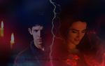 Merlin and Morgana- Our worlds by Evangelinel