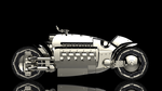 3D - Dodge Tomahawk Chrome Style 1 Poster by llexandro