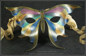 Metallic Butterfly mask by EirewolfCreations