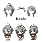Custom Hair| #03| Sakuya Izayoi by ZukiCee