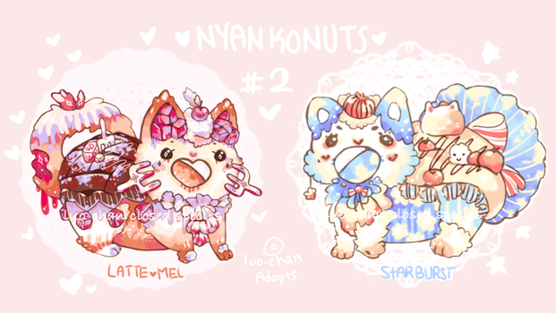 {OPEN] NYANKONUTS BATCH 2{PAYPAL/POINTS AUCTION] by luo-chan