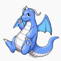 Blue Dragonite by Catwolf