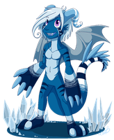 Little blue monster by Kaito-Fletcher