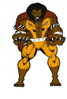 Kraven the Hunter in lion form by RWhitney75