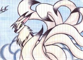nine tails by annathewerewolf