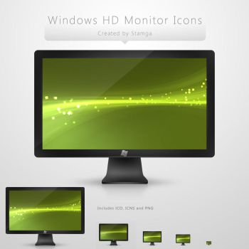 Windows HD Monitor Icon by Stamga