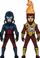 The Atom and Firestorm by MicroManED