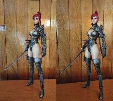 Ninja Girl 3D View (Stereoscopy) by BRSpidey