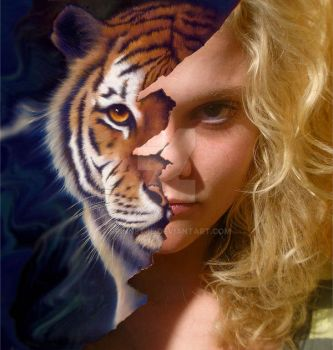 Eye of the tiger by Spinnetje