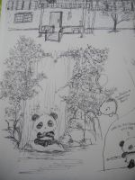 Dino and Panda Fight Final by MelodicInterval