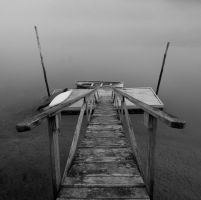 Walking the Plank BW by EvaMcDermott
