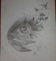 Fantasy eye by OneBulletToTheHeart
