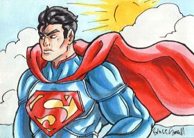Superman Sketch Card by ibroussardart