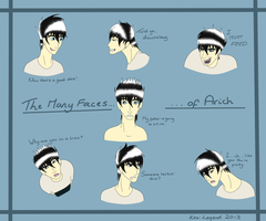 .+Expressions of Arich Damianas+. by KesiLegend