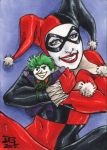 Harley Quinn with Joker Doll PSC by mechangel2002