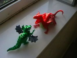 Dragon Fight... by AngelGhidorah