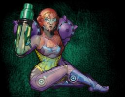 Samus Aran X-ray by ElectricGecko