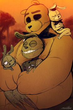 FNAF - Golden Sunset (OTP #29) by Atlas-White