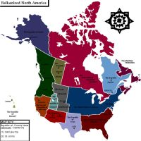 Balkanized North America by Muzik-Maniac