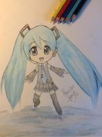 Miku Watercolor 1 by xRainbowspark