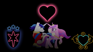 Shining Armor and Cadance Glowing Cutie Marks by alexram1313
