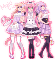 [CE] Maid Trio by MoriyamaHearts