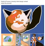 World of Furries having a t-shirt design contest!! by chloerosewolf
