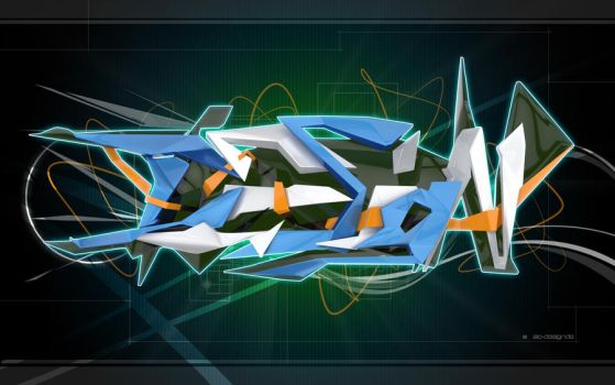 3D Graffiti Design by pumpanjol