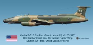 USAF Martin B-51G Night Intruder - Tropic Moon III by comradeloganov