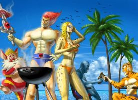Thundercats At The Beach by nenerocks