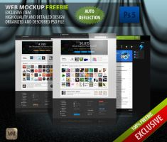 FreeBie- Web Mockup by MockupMania