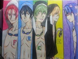 Free! (colored ver.) by ax-senpai