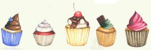 Cupcakes by shandio