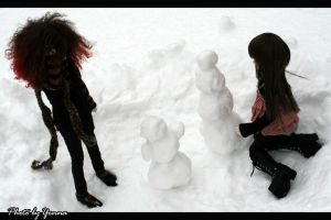 Of snow and snowmen by yenna-photo