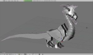 WIP Dragon made with Blender by Julika-Nagara