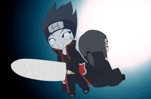 Kisame and Itachi chibis by Lunatta