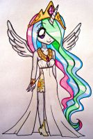 Human Princess Celestia by sekaiichihappy