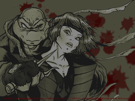 TMNT SAINW Raph + Karai by theblindalley