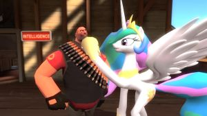 gmod - Celestia teaches Heavy... by Stormbadger